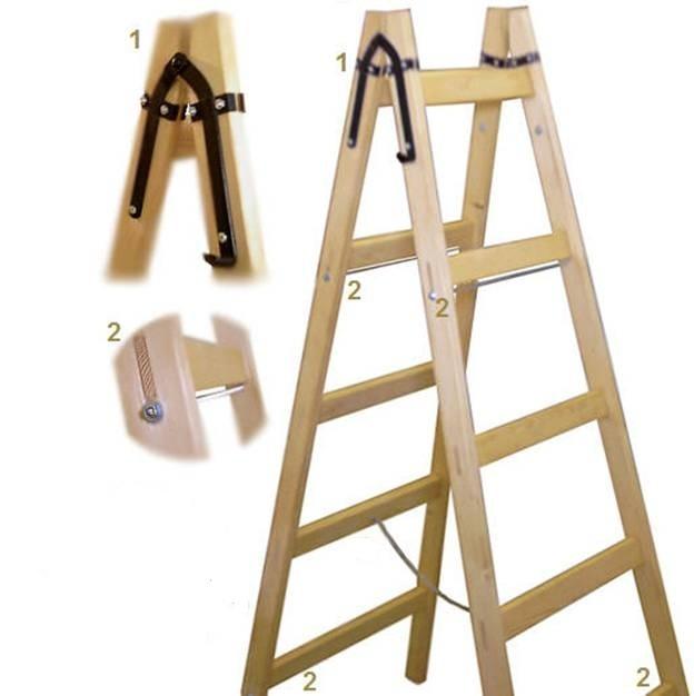 Сделать деревянную стремянку своими руками 7